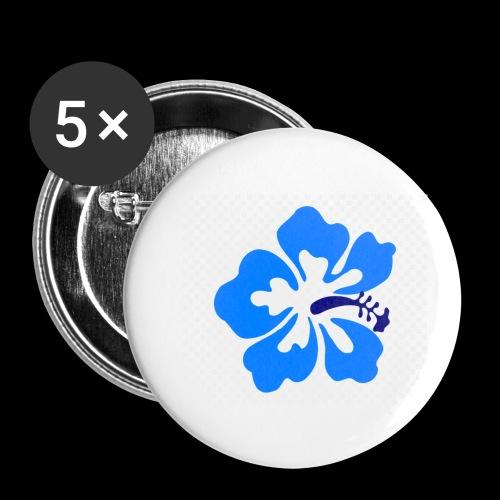 hawaiian flower - Buttons small 1''/25 mm (5-pack)