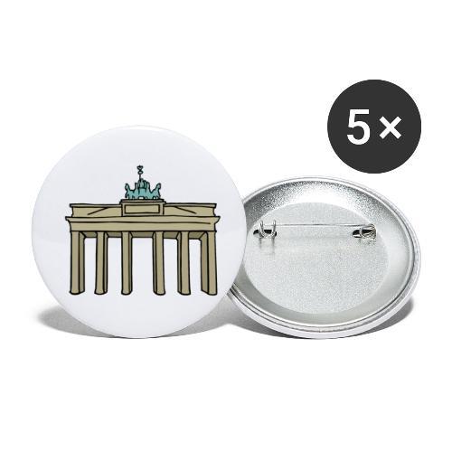 Berlin Brandenburger Tor - Buttons klein 25 mm (5er Pack)