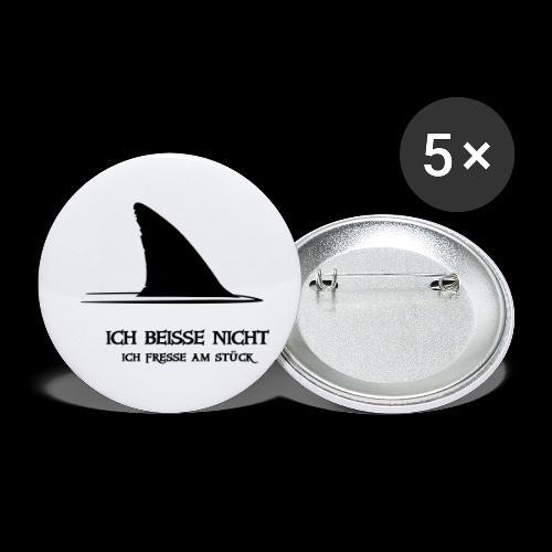 ~ ICH BEISSE NICHT ~ - Buttons klein 25 mm (5er Pack)