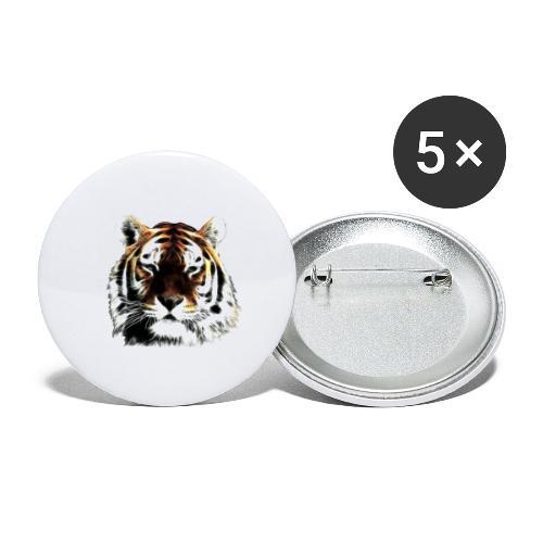 El poderoso tigre. - Paquete de 5 chapas pequeñas (25 mm)
