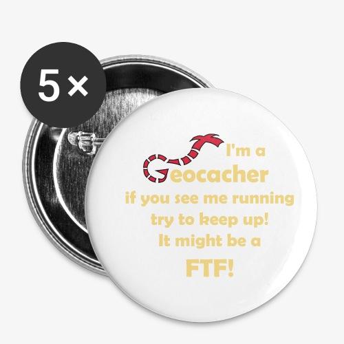 FTF-Jäger - Buttons klein 25 mm (5er Pack)
