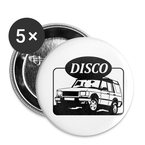 Landie Disco - Autonaut.com - Buttons small 1''/25 mm (5-pack)