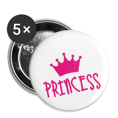 PRINCESS - Buttons klein 25 mm (5er Pack)