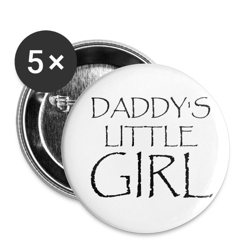 DADDY'S LITTLE GIRL - Buttons klein 25 mm (5er Pack)