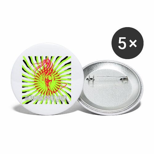 DSW logo - Små knappar 25 mm (5-pack)
