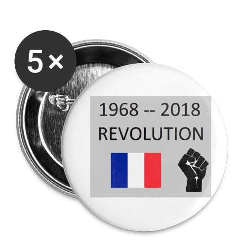 Revolution 68 18 - Lot de 5 petits badges (25 mm)