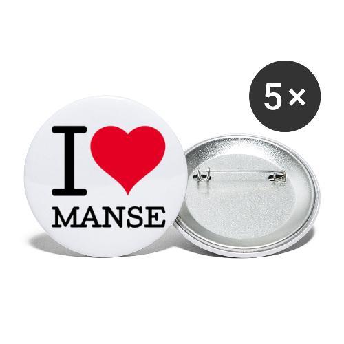 I love Manse - Rintamerkit pienet 25 mm (5kpl pakkauksessa)