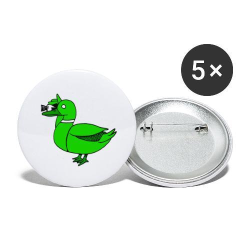 Greenduck Film Just Duck - Buttons/Badges lille, 25 mm (5-pack)