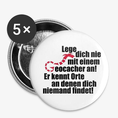 Leg' dich nicht mit uns an! - Buttons klein 25 mm (5er Pack)