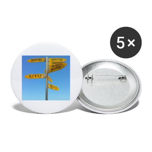 Wegweiser Cape Reinga Neuseeland Südpol Äquator - Buttons klein 25 mm (5er Pack)