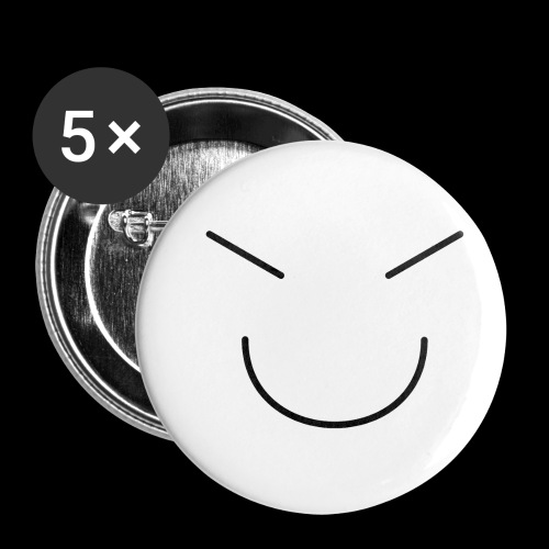 Gute Laune Schwarz - Buttons klein 25 mm (5er Pack)