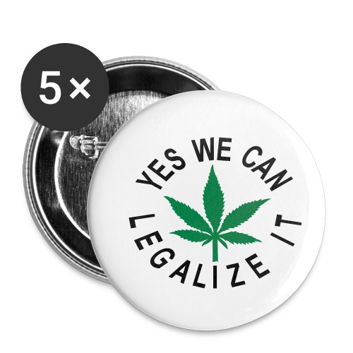 hanfblatt yes we can legalize it - Buttons klein 25 mm (5er Pack)