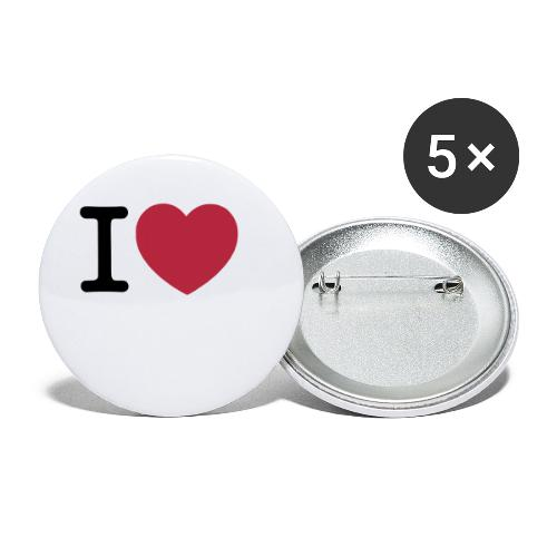 ilovemusic - Buttons/Badges lille, 25 mm (5-pack)