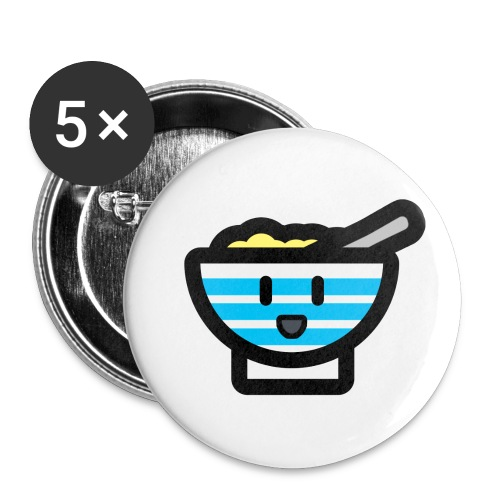 Cute Breakfast Bowl - Buttons small 1''/25 mm (5-pack)