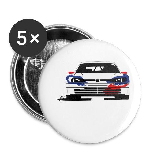 306 Maxi Rallye Tarmac Queen - Lot de 5 petits badges (25 mm)