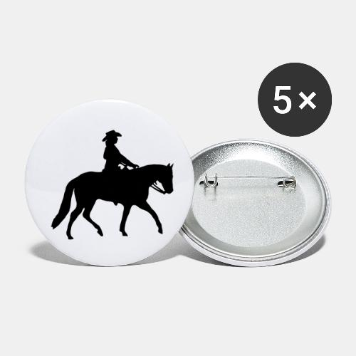 Ranch Riding Silhouette Westernreiterin - Buttons klein 25 mm (5er Pack)