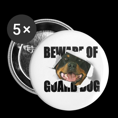 beware of guard dog - Buttons small 1''/25 mm (5-pack)