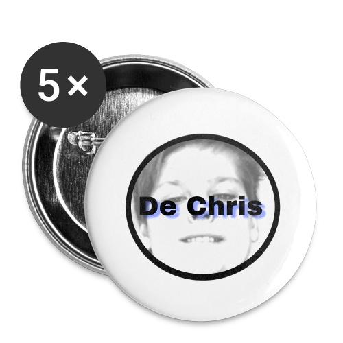 De Chris logo - Buttons klein 25 mm (5-pack)