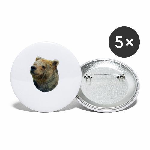 Fröhlicher Braunbär - Buttons klein 25 mm (5er Pack)