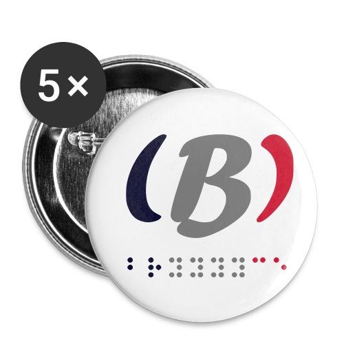 LVET M'Bleu, Blanc, Rouge - Lot de 5 petits badges (25 mm)