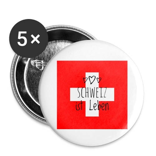 Schweiz beste - Buttons klein 25 mm (5er Pack)