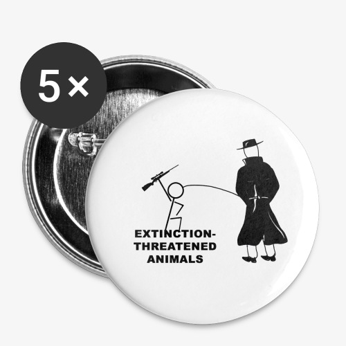 Pissing Man against hunting for endangered animals - Buttons klein 25 mm (5er Pack)