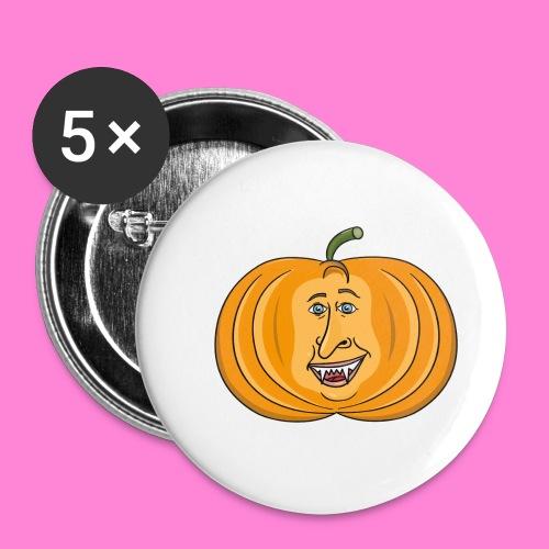 Rick pumpkin - Buttons klein 25 mm (5-pack)