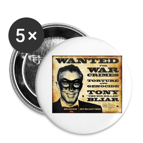 Wanted - Buttons small 1''/25 mm (5-pack)
