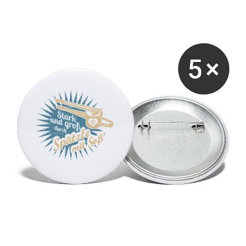 Spätzle mit Soß - Buttons klein 25 mm (5er Pack)
