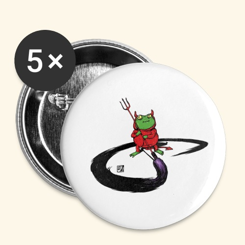 Don't paint the Devil On Ze Wall - Buttons klein 25 mm (5er Pack)