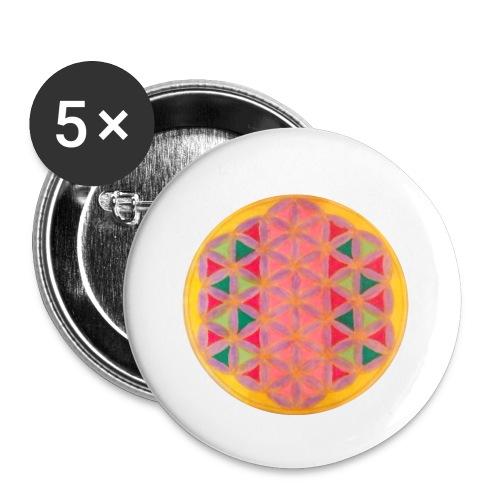 Blume des Lebens - Buttons klein 25 mm (5er Pack)