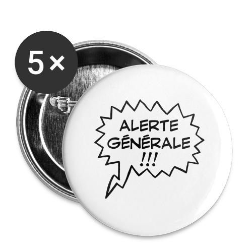 Alerte générale ! - Lot de 5 petits badges (25 mm)