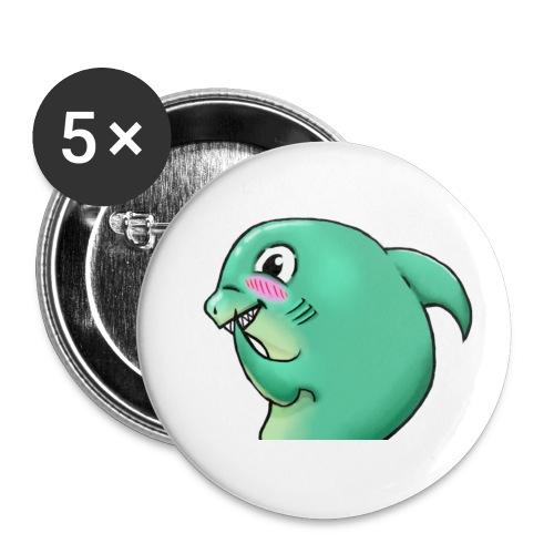 blushy shark - Liten pin 25 mm (5-er pakke)