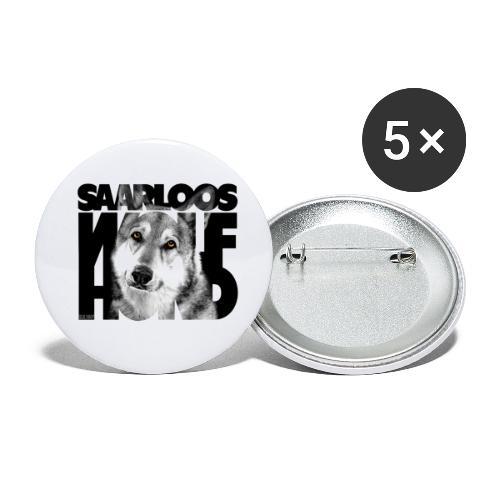 Saarloos Wolfhond II - Rintamerkit pienet 25 mm (5kpl pakkauksessa)