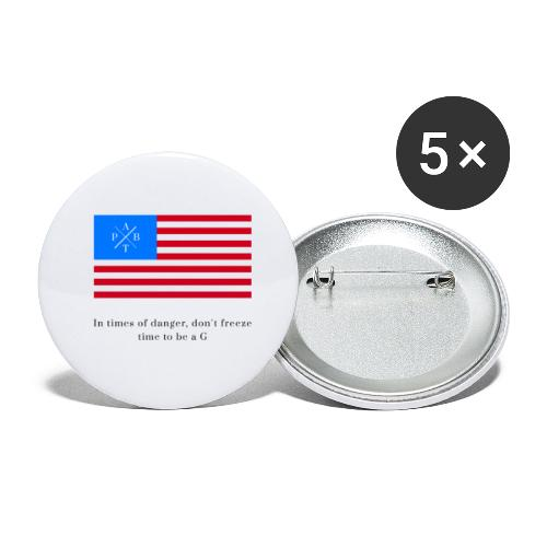Transparent - Buttons small 1''/25 mm (5-pack)
