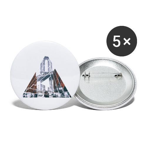 Manhattan Bridge of Brooklyn New York City - Buttons klein 25 mm (5er Pack)