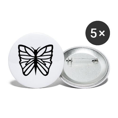 Avancerat fjärilsmotiv. - Små knappar 25 mm (5-pack)