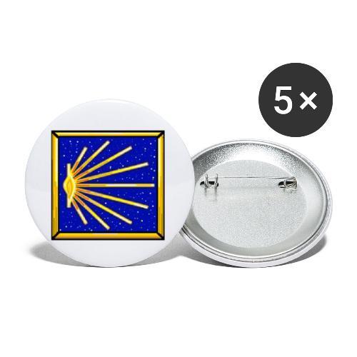 Bandiera Definitiva Cammino Di Santiago De Compost - Confezione da 5 spille piccole (25 mm)
