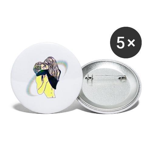 Innamorati - Confezione da 5 spille piccole (25 mm)