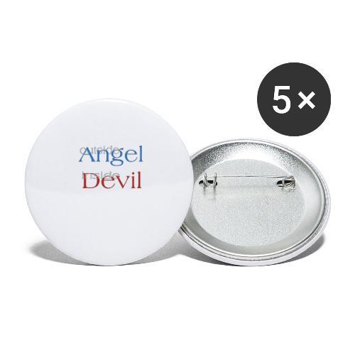 Angelo o Diavolo? - Confezione da 5 spille piccole (25 mm)