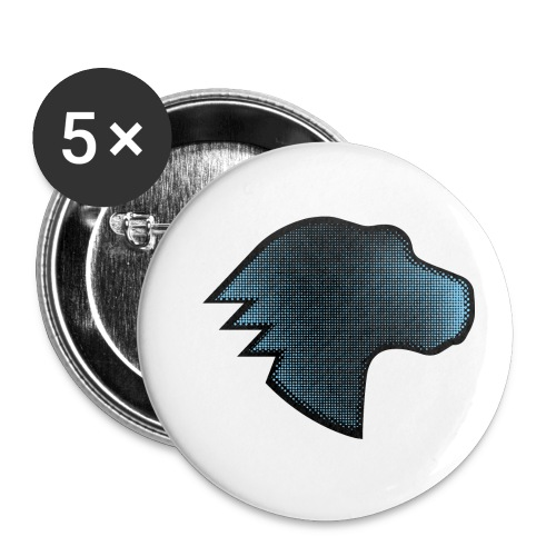MDN Blue Gradient Dino - Buttons small 1''/25 mm (5-pack)
