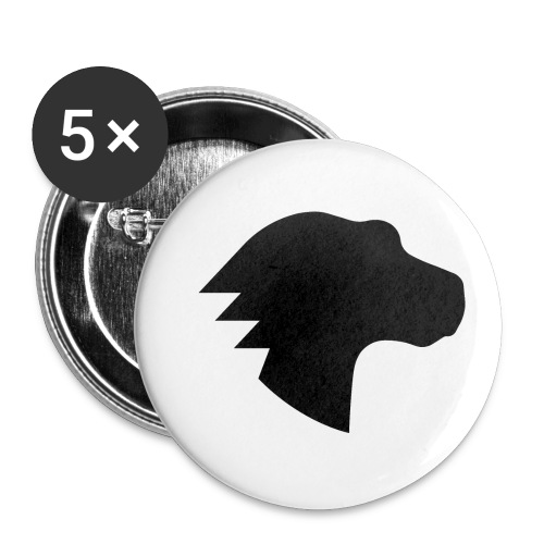 Dino Positive Logo - Buttons small 1''/25 mm (5-pack)