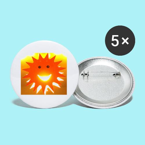 Soleil Souriant - Lot de 5 petits badges (25 mm)