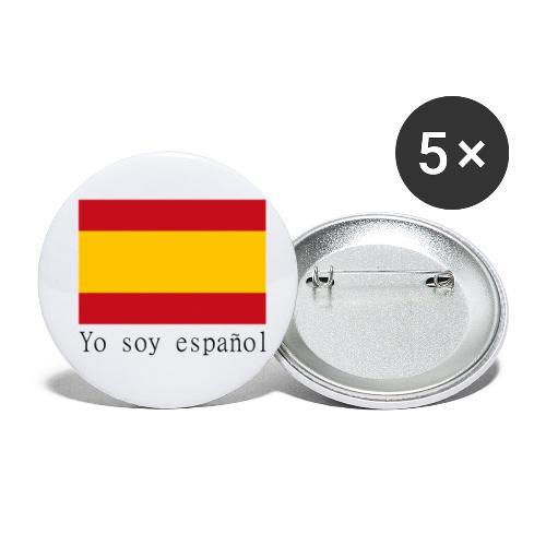 yo soy español - Paquete de 5 chapas pequeñas (25 mm)