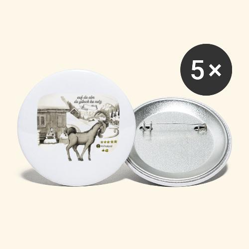 Steinbock #allnatural - Resonanz - Buttons klein 25 mm (5er Pack)