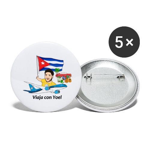 Cuba - Viaja con Yoel - Paquete de 5 chapas pequeñas (25 mm)