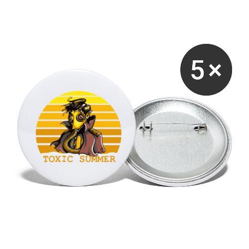Toxic Summer - Paquete de 5 chapas pequeñas (25 mm)