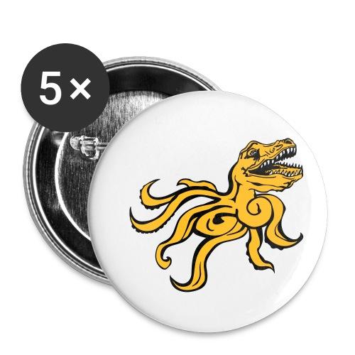 Octorex Dinoface - Buttons small 1''/25 mm (5-pack)