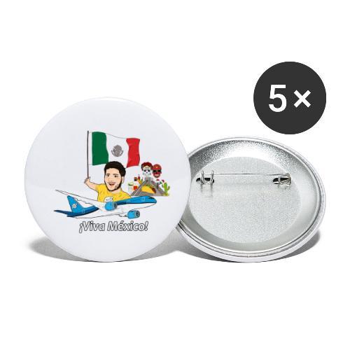 ¡Viva México! - Viaja con Yoel - Paquete de 5 chapas pequeñas (25 mm)