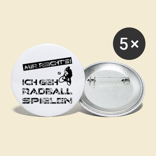 Radball | Mir reicht's! - Buttons klein 25 mm (5er Pack)